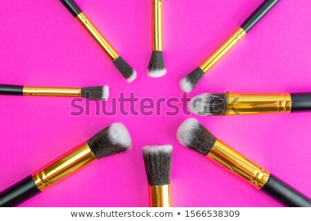 make up and cosmetics beauty woman face isolated on black backg stock photo © serdechny