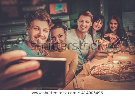 Lokanta cep telefonu kadın adam Stok fotoğraf © boggy