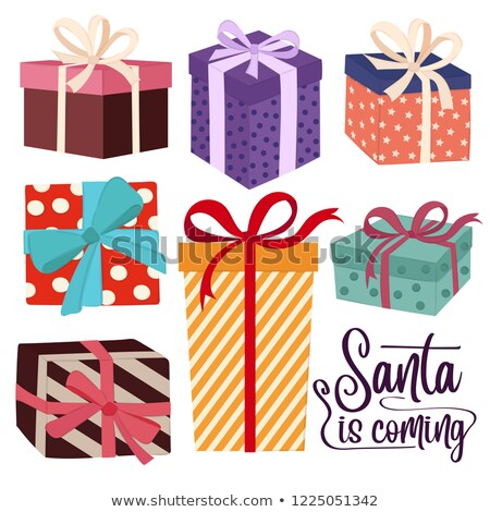 Christmas gift boxes collection isoated on white background Stock photo © balasoiu
