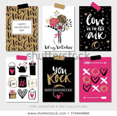 Creatieve romantische liefde bericht pop art vector Stockfoto © barsrsind