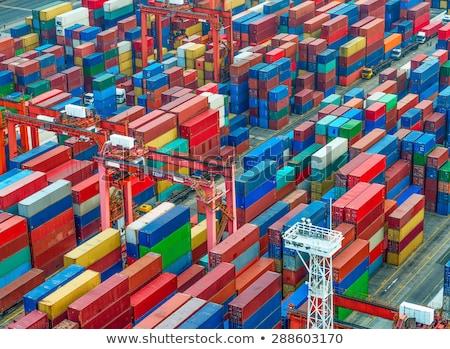 Levering scheepvaart vracht stad vrachtwagen Stockfoto © robuart
