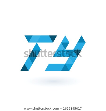 Initial geometric triangle pixel letters TY, Business identity element. Stock Vector illustration is Stock photo © kyryloff