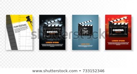 Open boord filmstrip ontwerp achtergrond frame Stockfoto © SArts
