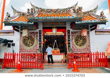 Cheng Hoon Teng temple roof, Melaka Stock photo © smithore