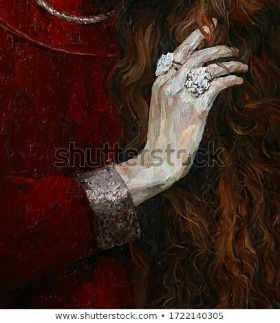 Barna fekete fésű hosszú haj szabadtér piac Stock fotó © lunamarina