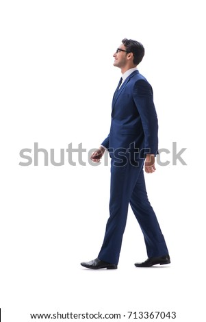 side view of a young businessman walking stock photo © feedough
