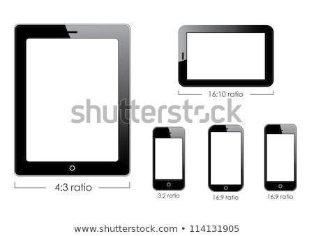 générique · isolé · blanche · noir · smartphone - photo stock © fotoscool
