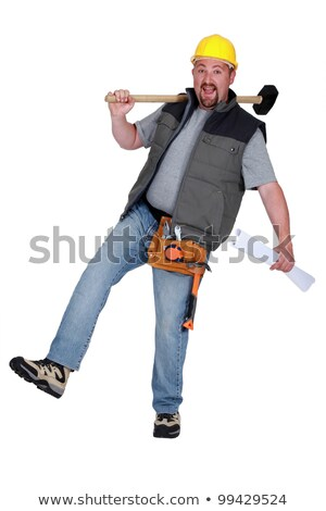 carpenter with hammer losing balance Stock photo © photography33