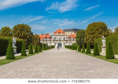 statua · barocco · castello · Vienna · Austria · cielo - foto d'archivio © vladacanon