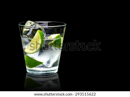 üveg vodka fekete csésze tiszta út Stock fotó © grafvision