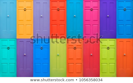 vintage lock and colorful door stock photo © witthaya