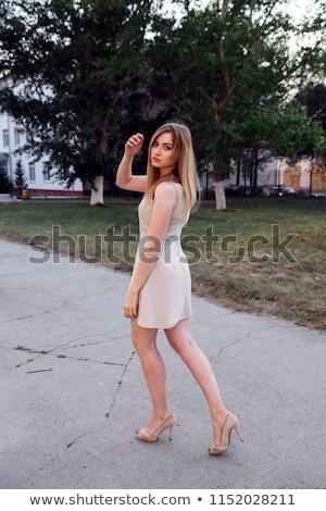 moda · mulheres · foto · backlight · flor - foto stock © Massonforstock