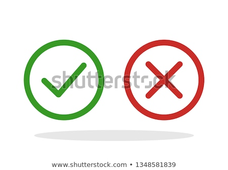 Confirm & Cancel Buttons with Checkmarks Stock photo © liliwhite