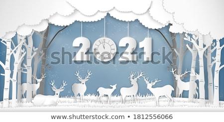new year wood background with beautiful decorations stock photo © elmiko