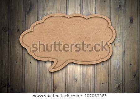 Szöveglufi fa üres copy space textúra hirdetés Stock fotó © stevanovicigor