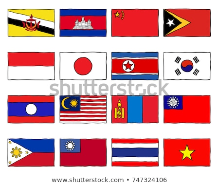 Handdrawn flag of East Timor Stock photo © claudiodivizia