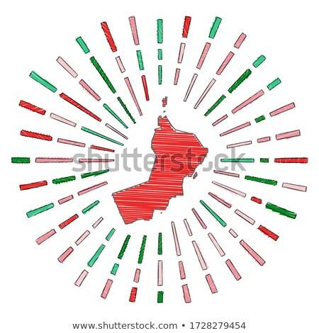 Zászló Omán kéz szín vidék stílus Stock fotó © claudiodivizia