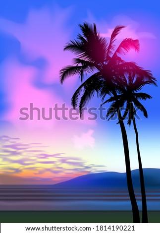 Sunset Scenery Stok fotoğraf © MarySan