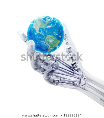 Krachtig android robot technologie geïsoleerd man Stockfoto © Kirill_M
