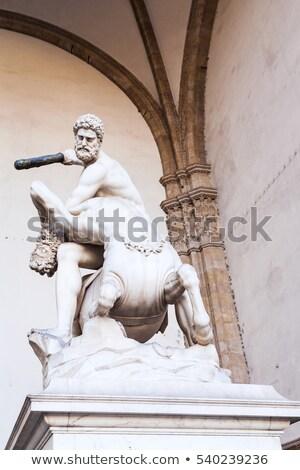 Hercules Beating the Centaur Nessus Stock photo © magann