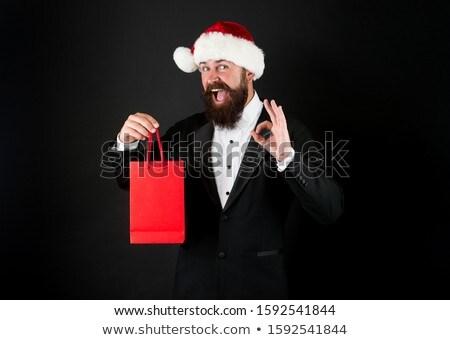 Noel baba neden imzalamak karanlık mavi renk Stok fotoğraf © fotoatelie