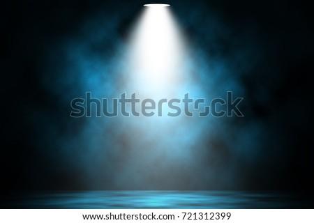 синий Spotlight дым вечеринка аннотация свет Сток-фото © c-foto