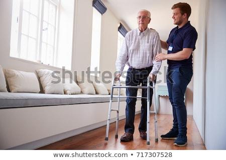 Elderly Senior Man Using Walking Frame Stock photo © monkey_business