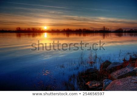 Mississippi River sunset Stock photo © dgilder