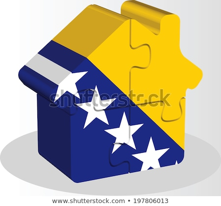 house home icon with Bosnia Herzegovinan flag in puzzle Stock photo © Istanbul2009