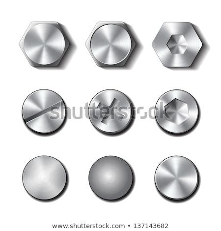 metal screw nut vector illustration stock photo © tuulijumala