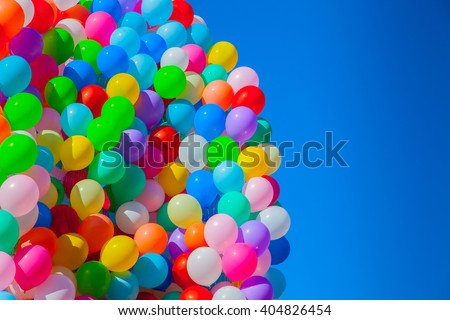 multicolorido · balões · escuro · blue · sky · céu · festa - foto stock © Goruppa