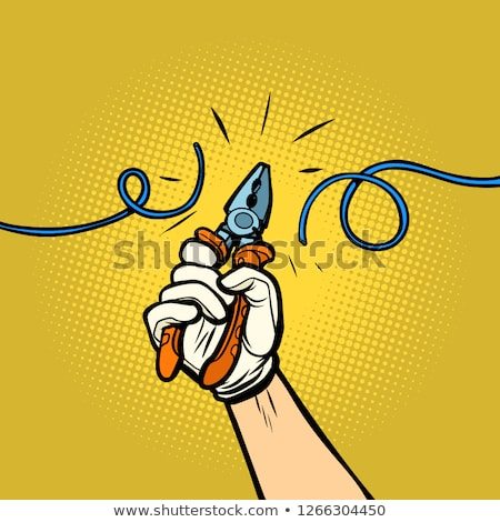 comic cartoon pliers Stock photo © lineartestpilot