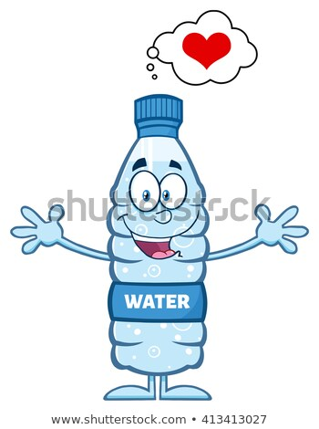 Cartoon Water Bottle With Thought Bubble Stok fotoğraf © HitToon