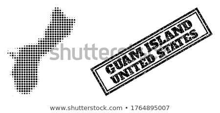 Mappa Guam punto pattern vettore immagine Foto d'archivio © Istanbul2009