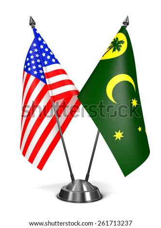 EUA miniatura bandeiras isolado branco Foto stock © tashatuvango