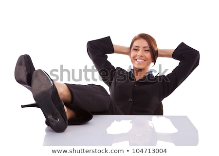 legs and high heel pumps sitting relaxed stock photo © roboriginal