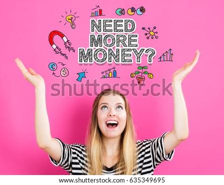 Need money word Stock photo © fuzzbones0