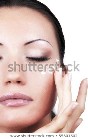 jovem · mulher · bonita · falsificação · lábios · foto - foto stock © pawelsierakowski