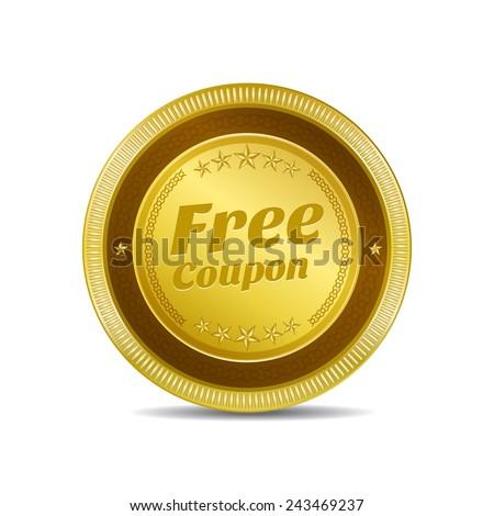 tratar · assinar · dourado · vetor · ícone · botão - foto stock © rizwanali3d