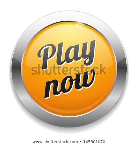 Play Now Yellow Vector Icon Design Stock photo © rizwanali3d