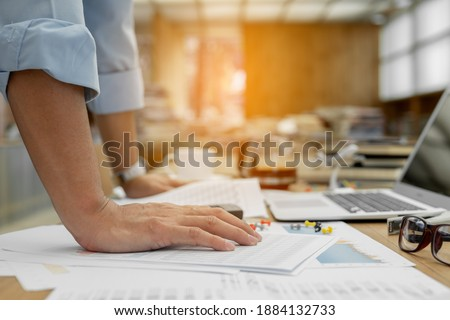 Businessman pondering about his goals. Stock photo © stockyimages