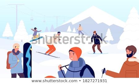 Skier on snow Stock photo © zurijeta
