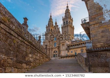 Santiago melancólico vista catedral edad Foto stock © SergeyAndreevich