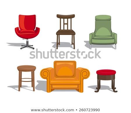 yeşil · sandalye · mobilya · örnek · beyaz · dizayn - stok fotoğraf © bluering