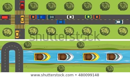 車 · 道路 · 実例 · 風景 · 通り - ストックフォト © bluering
