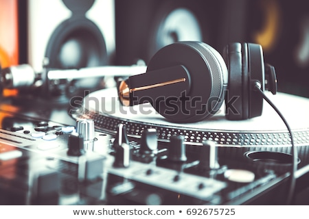 DJ playing music at the station Stock photo © bluering