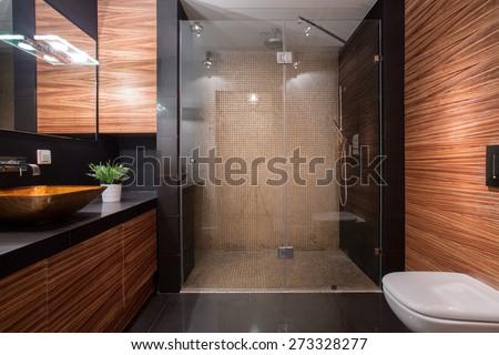 современных · душу · роскошь · отель · ванную · стены - Сток-фото © luissantos84