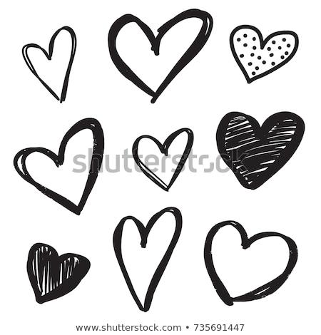 heart sketch icon stock photo © rastudio