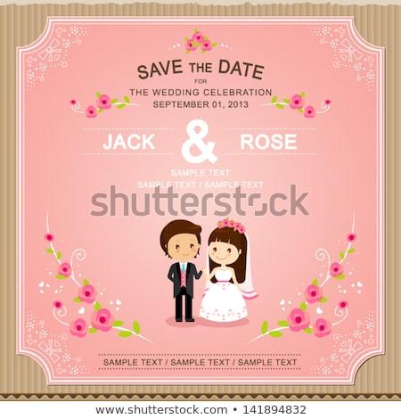 opslaan · datum · bruiloft · ontwerp · liefde · hart - stockfoto © sarts