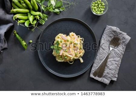 タリアテーレ ベーコン 食品 ディナー 野菜 ハム ストックフォト © M-studio